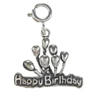 Sterling Silver 'Happy Birthday' Balloon Charm