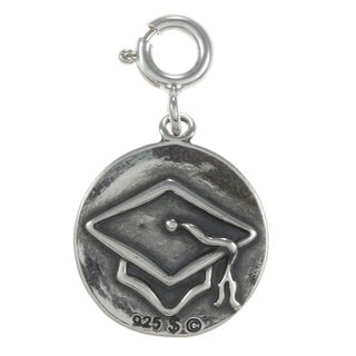 Sterling Silver 'Class of 2014' Double-sided Charm
