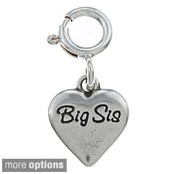 Sterling Silver Sister Small Heart Charm