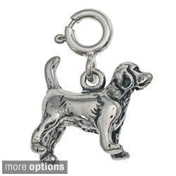 Sterling Silver Dog Charm