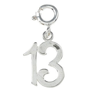 Sterling Silver Birthday Age Charm