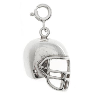 Sterling Silver Football Helmet Charm