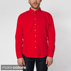 American Apparel Men's Corduroy Button-down Shirt