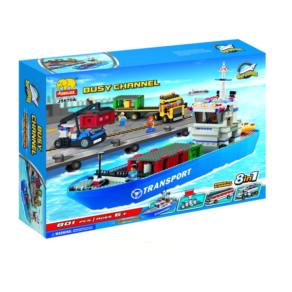 Fun Blocks Harbor Terminal 8-in-1 Brick Set