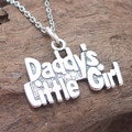 'Daddy's Little Girl' Pendant Sterling Silver Necklace (Thailand)