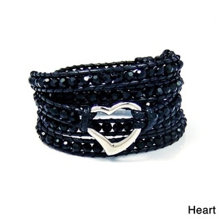 Twilight Dreams Heart, Skull, or Peace Crystal Wrap Bracelet (Thailand)