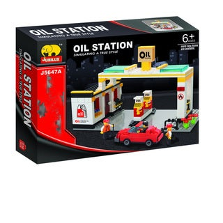 Fun Blocks City Diorama (B) Gas Station - (238 pieces)