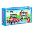 Fun Blocks City Diorama (A) - Repair Shop & Restaurant - (401 pieces)