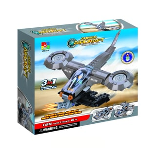 Fun Blocks Military Avatar Helicopter 3-in-1 Brick Set (165 pieces)