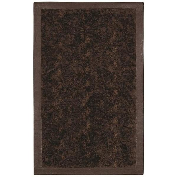 Brown Acrylic Fur Animal Rug (5'6 x 8'6)