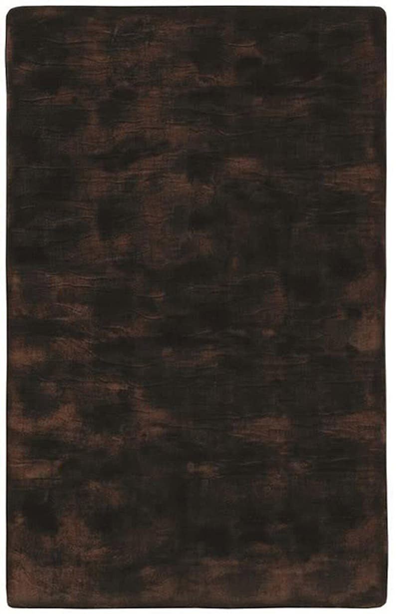 Black/ Brown Acrylic Fur Animal Rug (5'6 x 8'6)