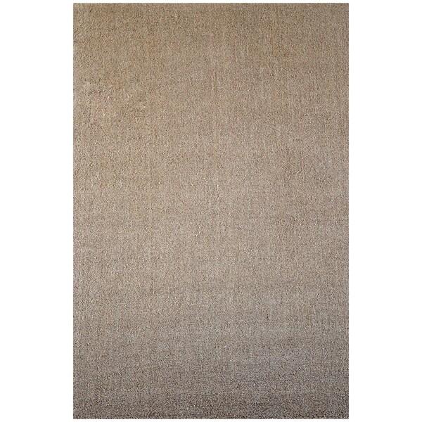 Tan Hand-tufted Wool Rug