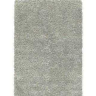 Grey/ Silver Shaggy Hand Woven Rug