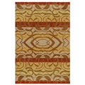 Gold Rust Geometric Hand-tufted Wool Rug