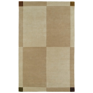 Hand-tufted Beige/ Brown Wool Rug