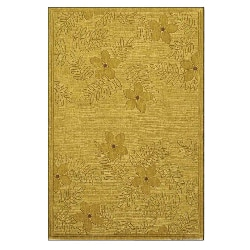 Hand-tufted Gold/ Beige Wool Rug