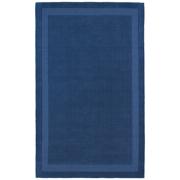 Hand-tufted Blue Wool Rug