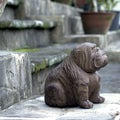 Volcanic Ash Behaving Bulldog Sculpture
