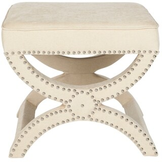 Safavieh Dante X-Bench Cream Ottoman