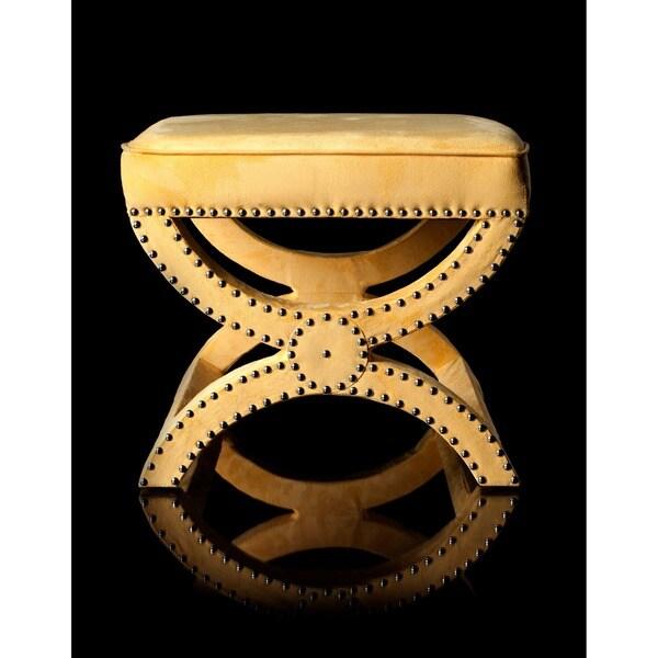 Safavieh Dante X-Bench Yellow Ottoman