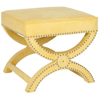 Safavieh Dante X-Bench Yellow Ottoman