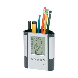 Premium Pen Holder with Clock