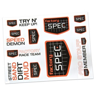 Factory Spec Name Brand Decal Sheet