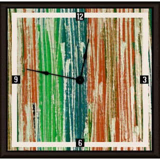 Ankan 'Abstract Lines' Framed Clock Art