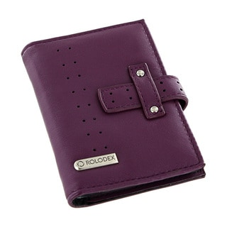 Rolodex Purple Personal Business Card Case