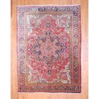 Persian Hand-knotted Heriz Rust/ Brown Wool Rug (8'3 x 11'1)