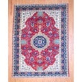 Persian Hand-knotted Heriz Red/ Navy Wool Rug (8'7 x 11'2)