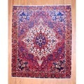 Persian Hand-knotted Bakhtiari Red/ Orange Wool Rug (9&#39; x 11&#39;)