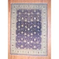 Indo Hand-knotted Vegetable Dye Brown/ Beige Wool Rug (8'7 x 12')