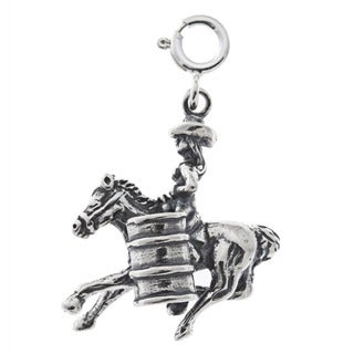 Sterling Silver Barrel Racer Charm