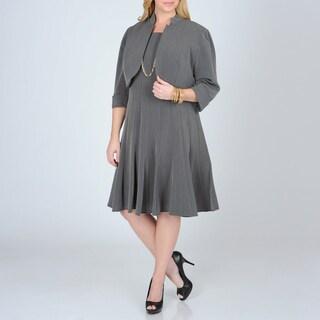 R & M Richards Women's Plus 2-piece Career Dress