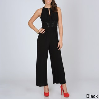 R & M Richards Women's Empire Waist Jumpsuit