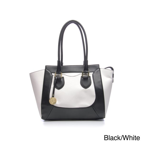 London Fog Bedford Color Block Tote Handbag