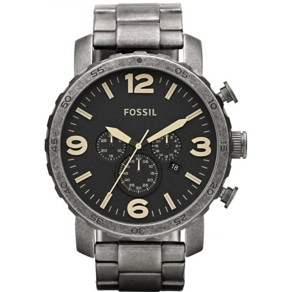 Fossil Men's JR1388 Nate Black Chronograph Watch