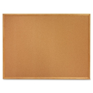 Quartet Oak Frame Cork Bulletin Board