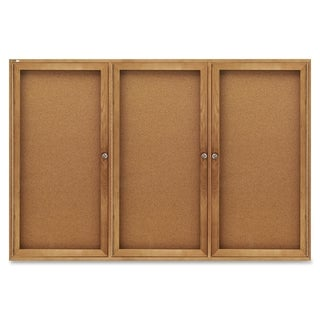 Quartet Oak Frame Bulletin Board