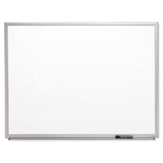 4' x 3' Aluminum Frame Dry-erase Whiteboard with Full-length Marker Tray