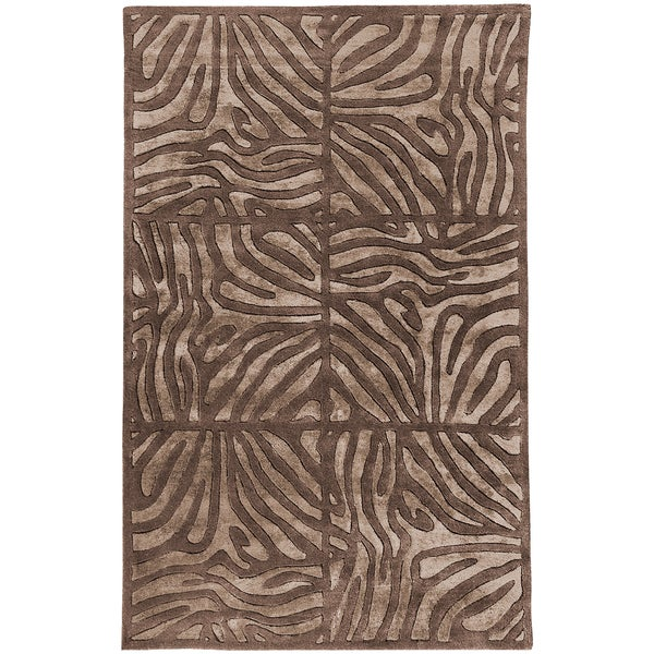 Candice Olson Hand-tufted Zebra Animal Print Berkmeer Wool Rug (2' x 3')