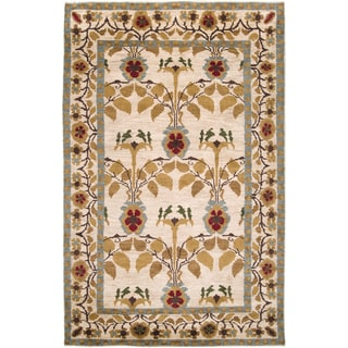 Hand Knotted Aagtdorp Beige Wool Rug (8' x 11')