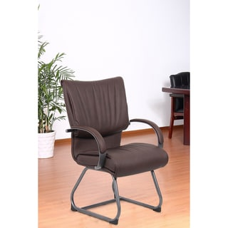 Aragon Bomber Brown Guest Chair
