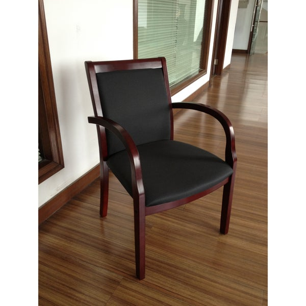 Aragon Wood Slat Chair with Removable Back Cushion