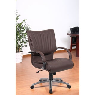 Aragon Bomber Brown Mid Back Executive Chair