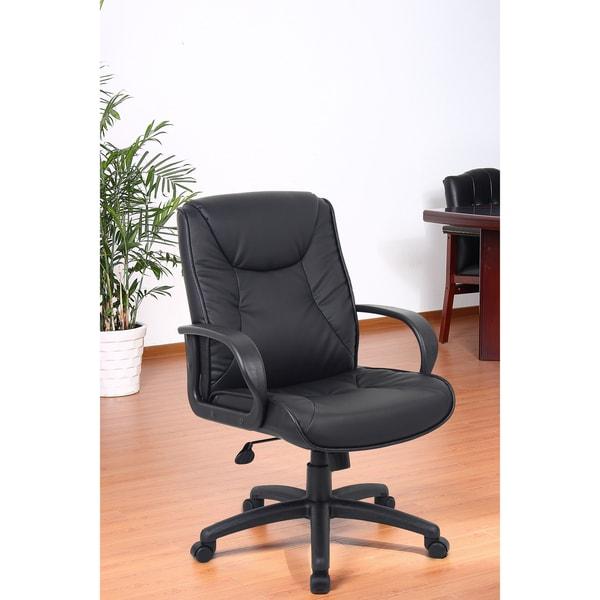 Aragon Black Ergonomic Mid Back Executive Chair