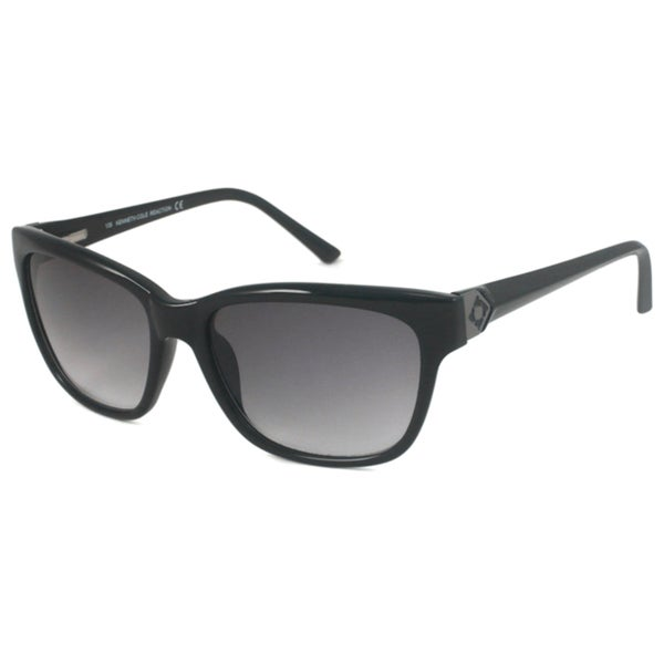 Kenneth Cole Reaction KC2417 Women's Black/Gray-Gradient Rectangular Sunglasses