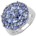 Malaika Sterling Silver 2-1/2ct TGW Round-cut Tanzanite Ring