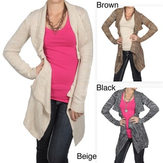 Journee Collection Juniors Open Front Long Sleeve Cardigan